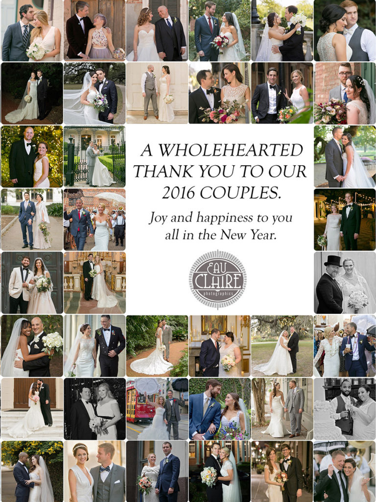 Thank you to all of our2017 couples. Happy New Year.